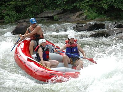 White-water rafting at Lake Ocoee, 45 minutes away.