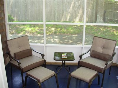 Enjoy the Sea Breeze in the Screened in Sunroom