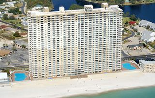 Tidewater Beach Resort condo photo - Tidewater Resort - as ocean-front as it gets! Two huge lagoon pools on the sides