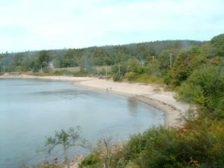 Acadia National Park cottage photo - Seal Harbor Sand Beach at High Tide w/Real Sand