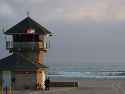 Coronado Beach voted one of the world's finest family beaches only 1 block away!