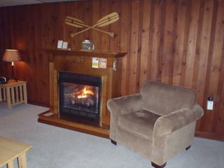 Penn Lake cottage photo - Living Room - Gas Fireplace