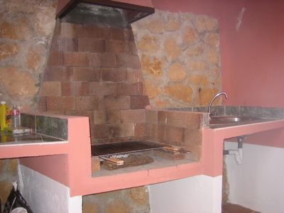 Benidorm Area villa rental - BBQ area next to main kitchen and bbq