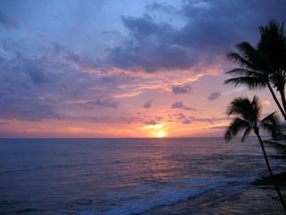Kailua Kona condo photo - Another lovely sunset from the lanai