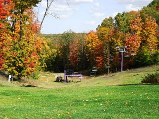 Bellaire / Shanty Creek condo photo - view down the slopes in the fall