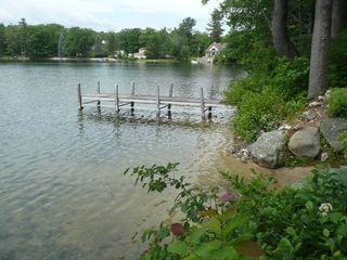 Wolfeboro cabin photo - Sandy beach area and dock