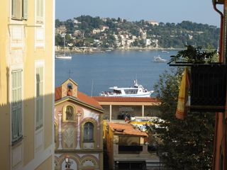 Villefranche-sur-Mer apartment photo - View from apartment to sea and chapel