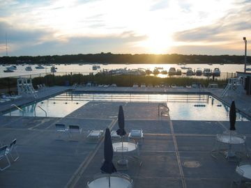 Great Harbors community pool on Great Pond