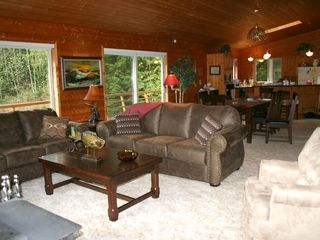 Sequim lodge photo - Great Room with Fireplace