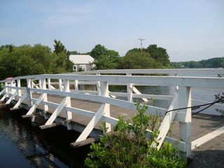 New Seabury condo photo - The fishing bridge on Dean Pond.