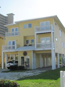 Ample parking around and under our beach house