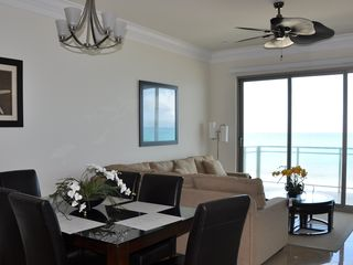 Nassau & Paradise Island townhome photo - View of living room, balcony and dining area.