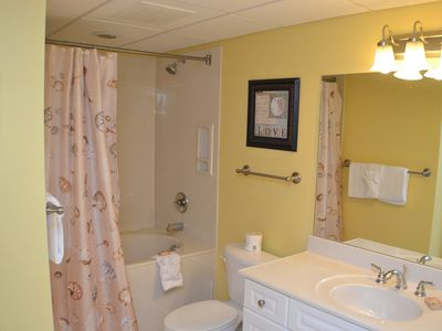 Guest Bathroom with Large Garden Tub