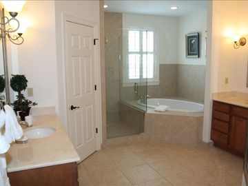 Master Bathroom w/ Jetted Tub, Separate Shower, Large Walk-In Closet