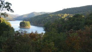 Lake Nantahala lodge photo - View from Deck of House