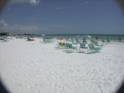 The beach at the Palm Bay Club