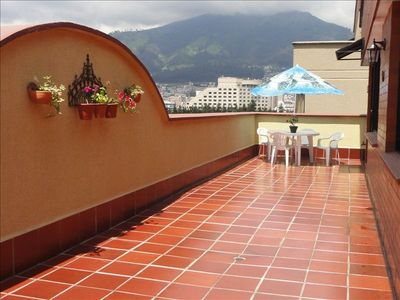 Quito condo rental - Spacious 600 sq. feet terrace