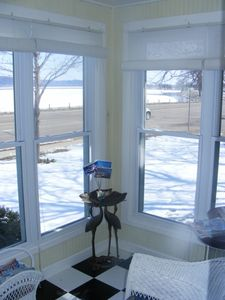Porch in winter time