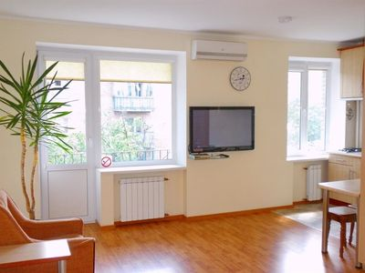 Studio apartment in Kiev with Air conditioning, Washing machine (406391)