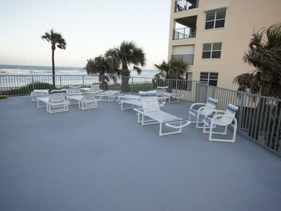 Sundeck. Enjoy the ocean view while relaxing in the sun.