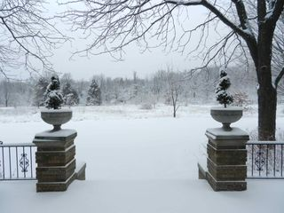 Saugatuck / Douglas estate photo - A peaceful winter day. View from the backyard terrace.