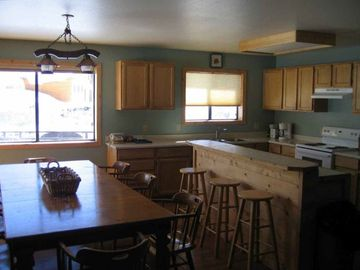 Kitchen/dining room seats 12