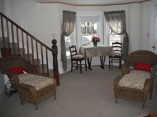 North Conway house photo - Relax in the comfy wicker chairs.