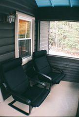 Grayling cabin photo - Screened in porch looking West to the White Pines.
