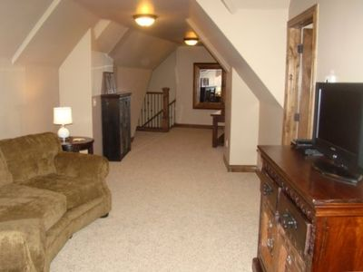 One of 3 Family Rooms located in Pervenche...located upstairs in Midway Utah