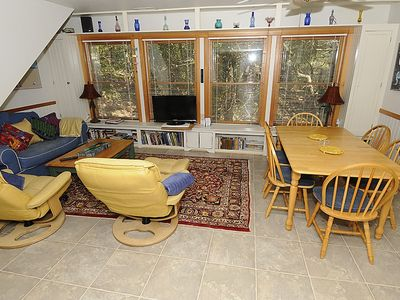 Frisco cottage rental - Living and dining room