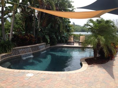 Relax in the private heated pool!