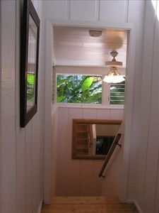 double winder stairwell to lockout door-lots of privacy.