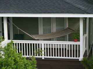 Folly Beach house photo - hammock on front deck.This is a fantastic spot for a nap or reading.