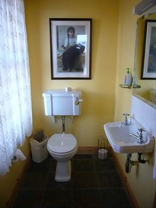 Dingle Peninsula cottage rental - powder room on ground floor.