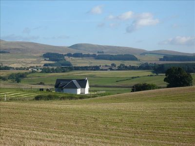 Cambushinnie Croft with surrounding views