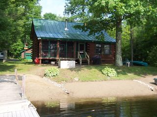 Lake Hortonia cabin photo - Big Dock, bring your big boat, 200' Lake frontage,Pinic Table,Firepit.