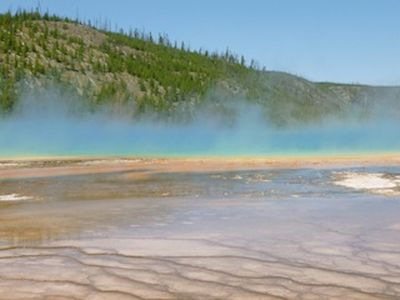 One of many sights in Yellowstone National Park.