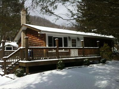 Our Elk Cabin from the front winter of 2012