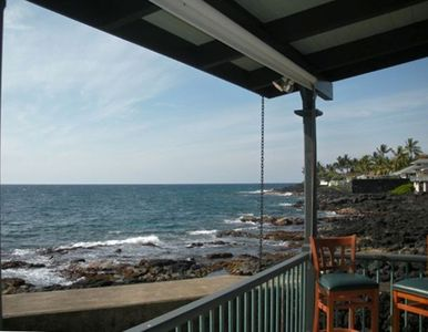 Kailua Kona house rental - Looking to the north from lanai