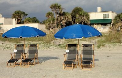 Reserve your own private Beach Chairs - right out your back door!