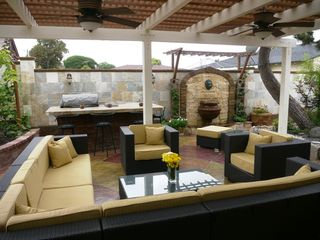 Santa Ana house photo - Patio with seating/BBQ island