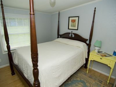 Bakersville cottage rental - Guest bedroom with queen-size rice bed.