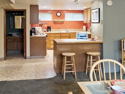The Dining Room and Kitchen have an open floor plan - perfect for conversation.