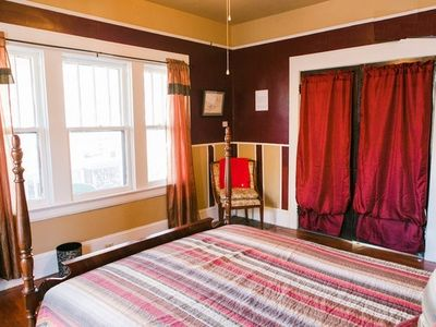 Bright room looking out to the porch