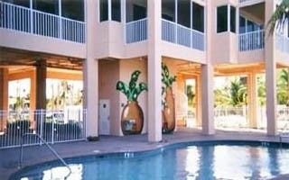 Fort Myers Beach condo rental - Private heated pool and once out of the pool gate you are on the beach!
