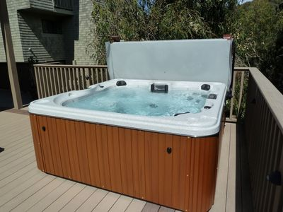 Newly installed hot tub