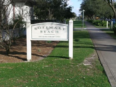 Rosemary Beach starts at the edge of the Village of South Walton complex