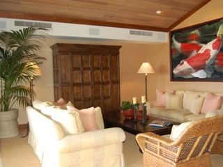 Four Seasons Hualalai villa photo - Great room...HUGE HD/TV behind that armoire!