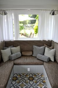 Built-in dinette in sofa configuration