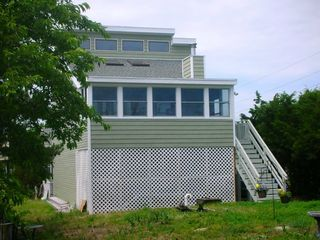 Broadkill Beach house rental - Contemporary Home Nestled in the Trees, yet just Steps from the Beach!